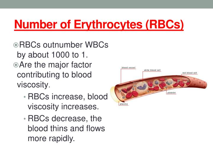 Number of Erythrocytes (RBCs)