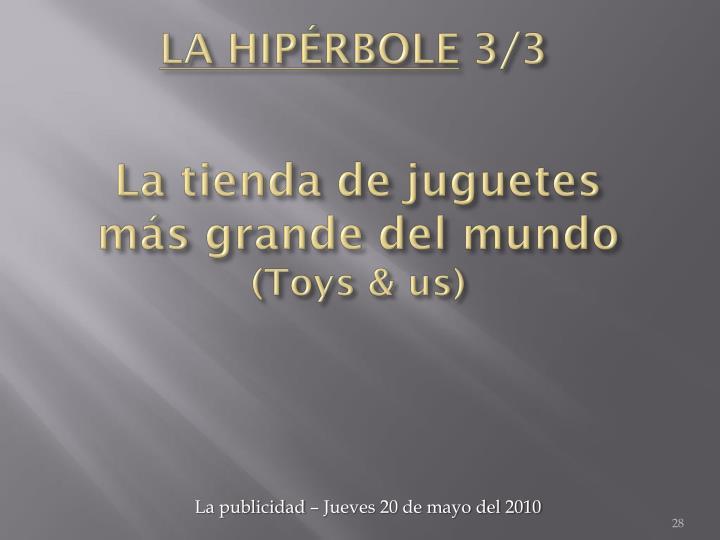 LA HIPÉRBOLE