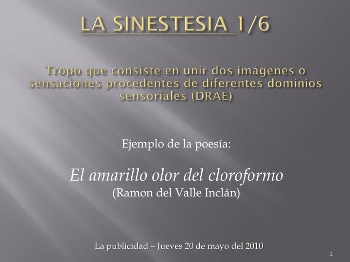 La sinestesia 1 6