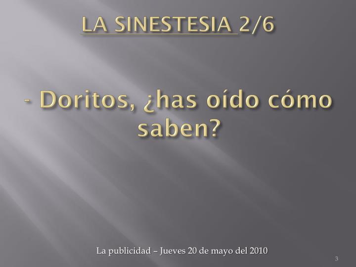 La sinestesia 2 6