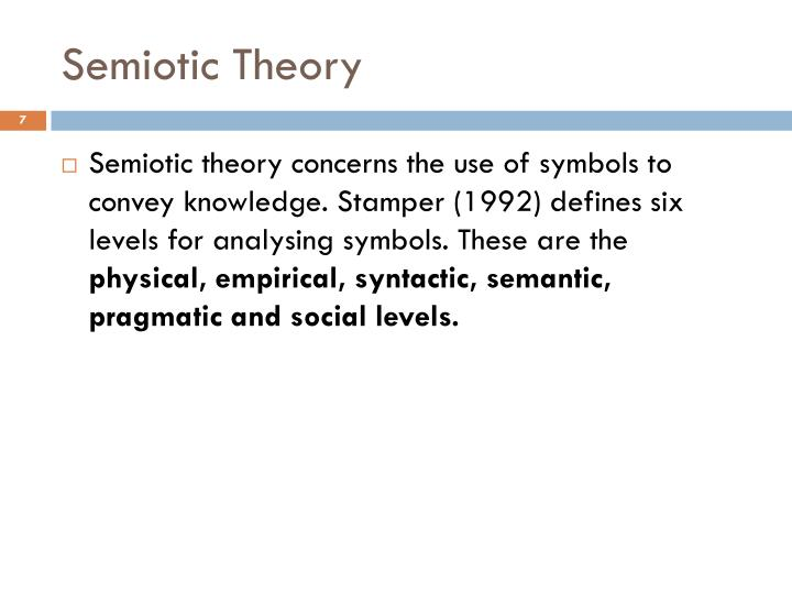 Semiotic Theory
