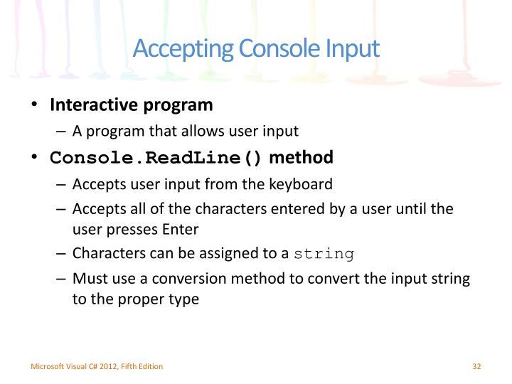 Interactive program