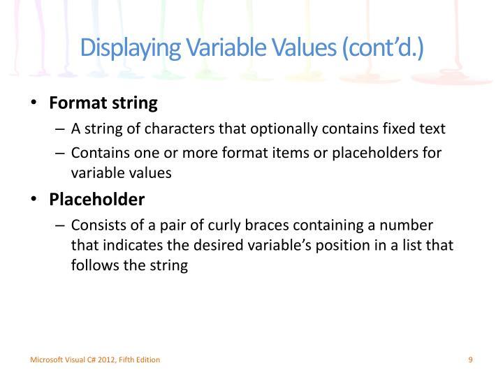 Format string