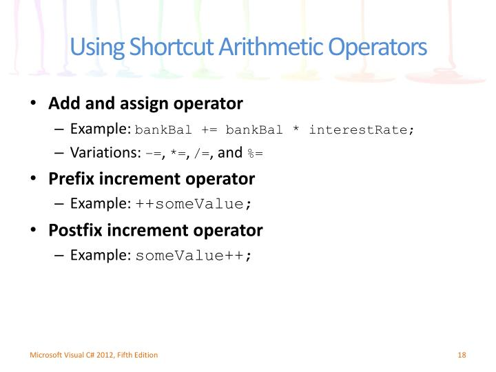 Add and assign operator