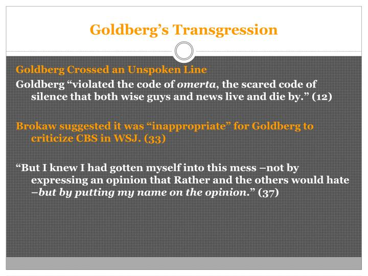 Goldberg's Transgression