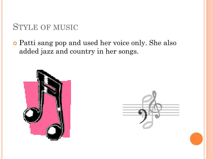 Style of music