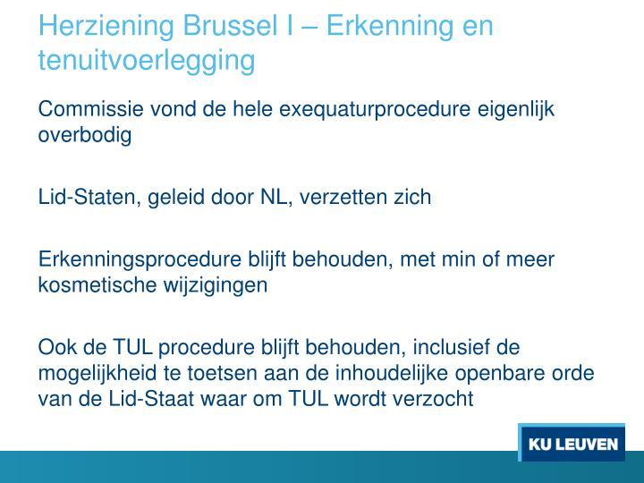 Herziening Brussel I – Erkenning en tenuitvoerlegging