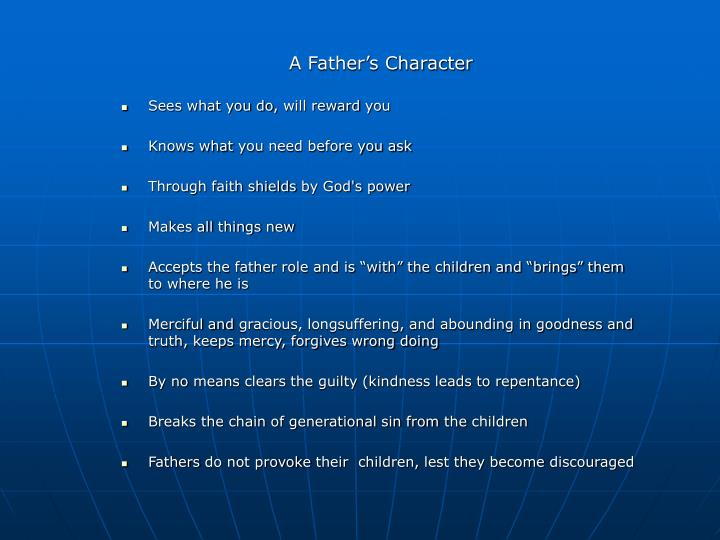 A Father's Character