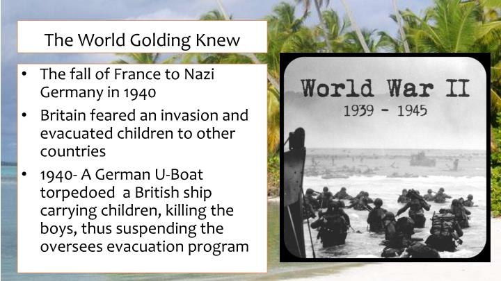 The World Golding Knew