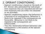 2 operant conditioning
