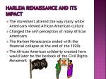 harlem renaissance and its impact