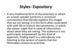 styles expository
