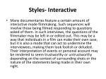 styles interactive