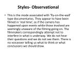 styles observational