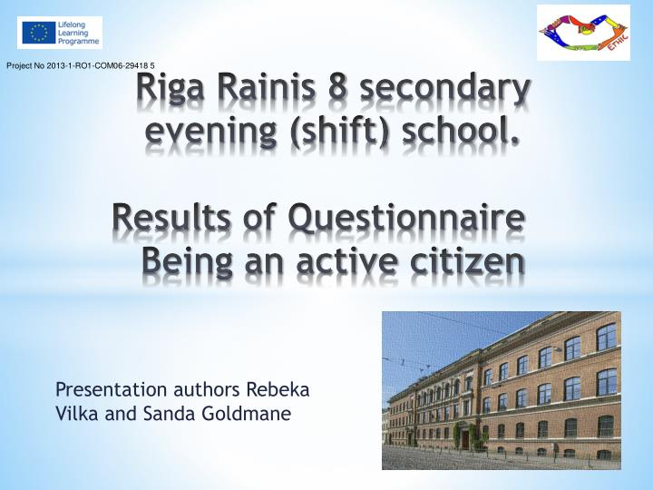 Riga rainis 8 secondary evening shift school results of questionnaire being an active citizen
