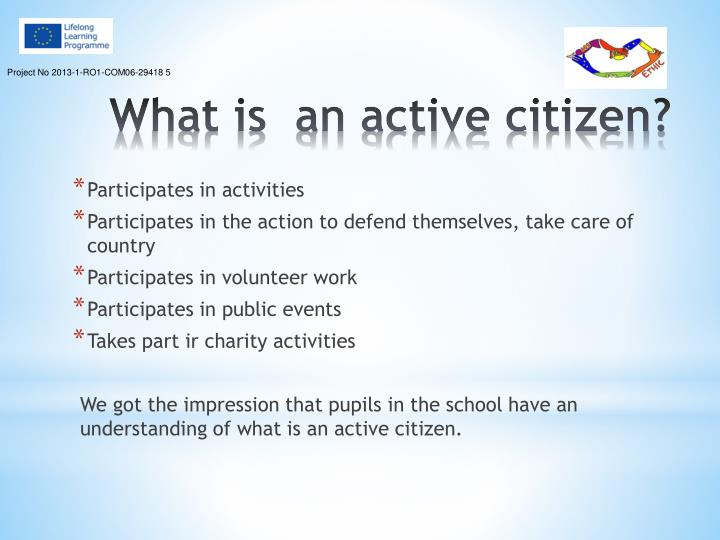 What is an active citizen