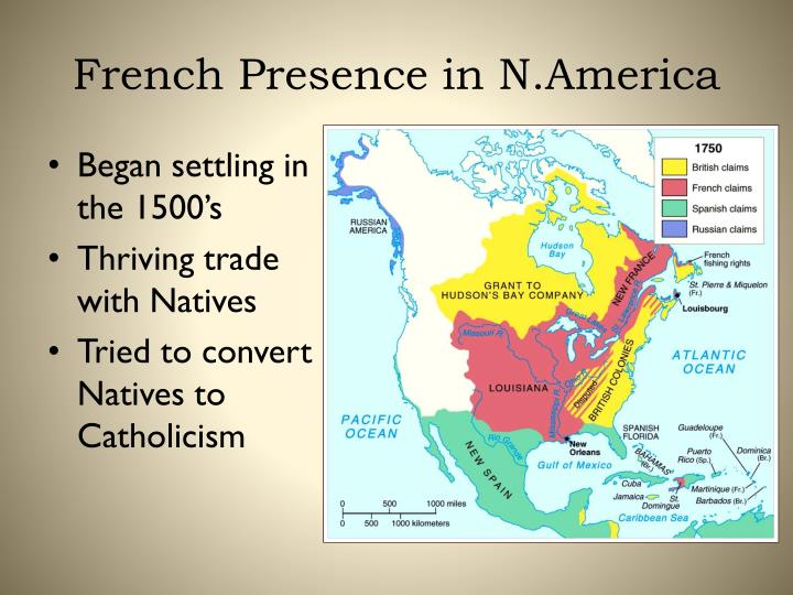 French presence in n america
