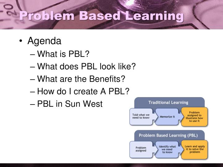 Problem b ased learning