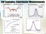 cdf examples calorimeter measurements