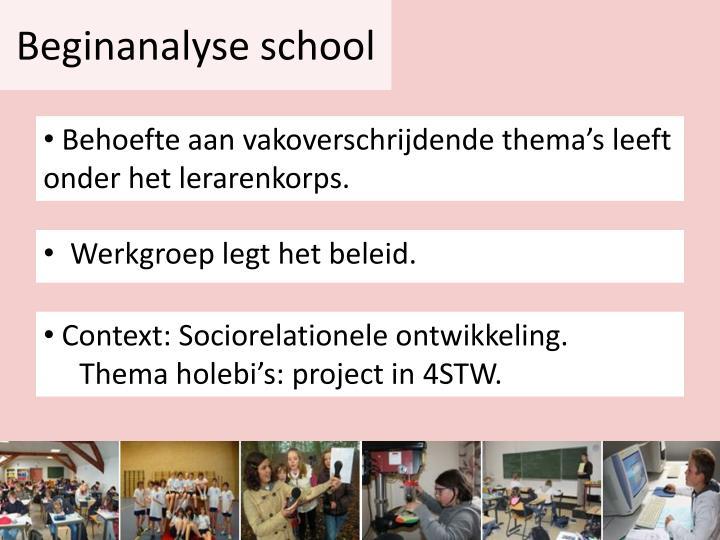 Beginanalyse school