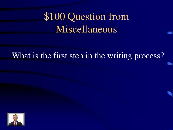 $100 Question from
