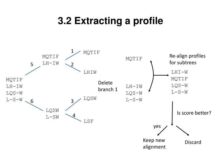 3.2 Extracting a profile