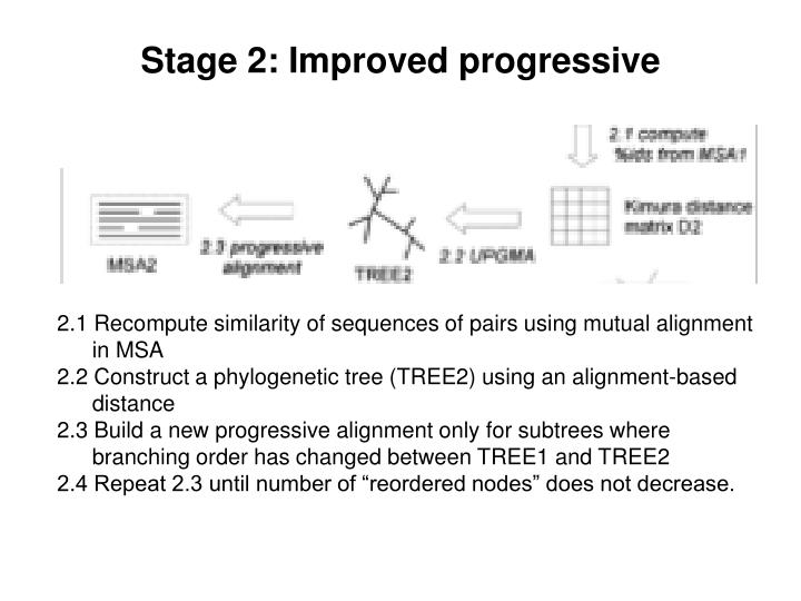 Stage 2: Improved progressive