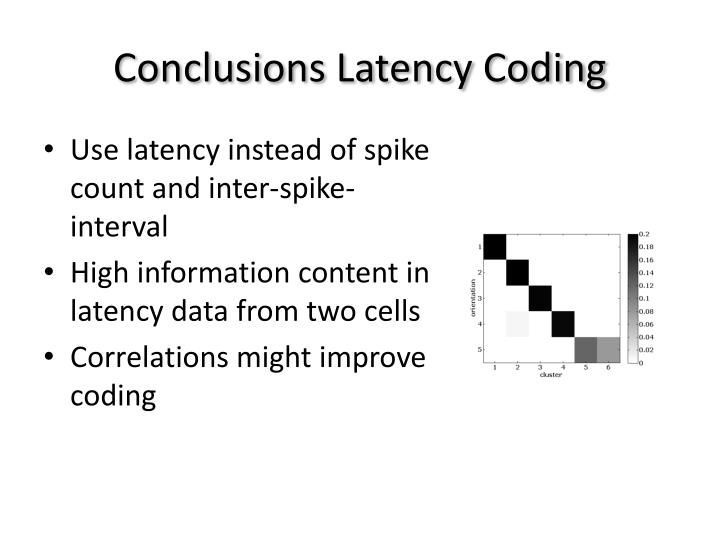 Conclusions Latency Coding