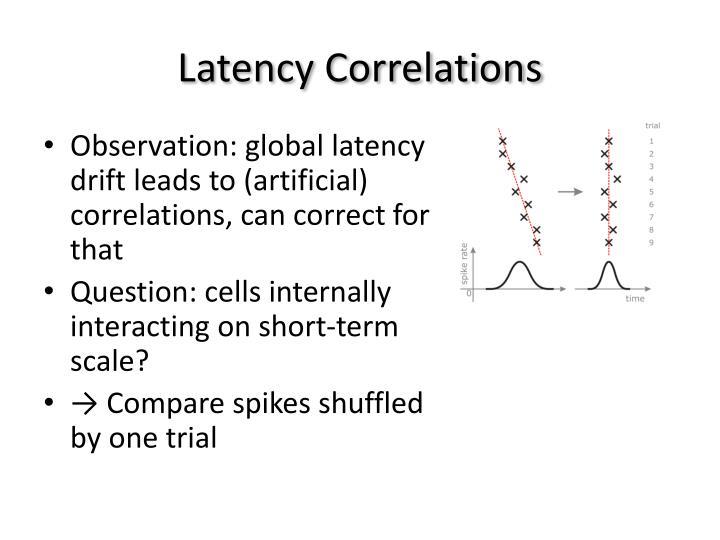 Latency Correlations