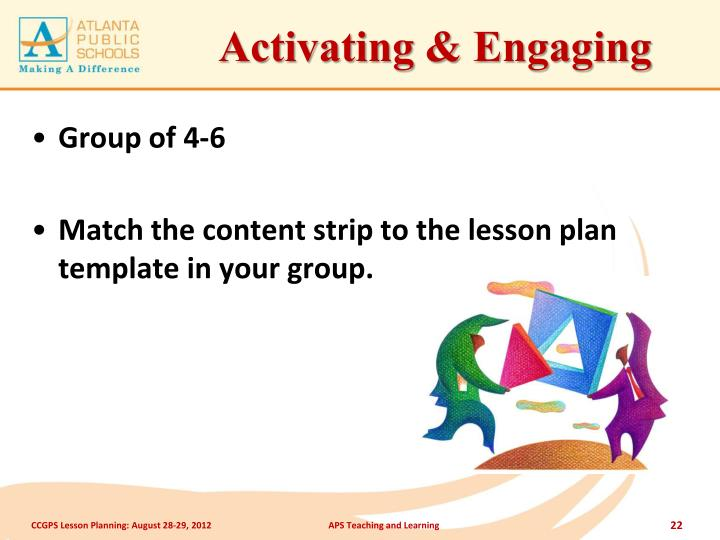 Activating & Engaging