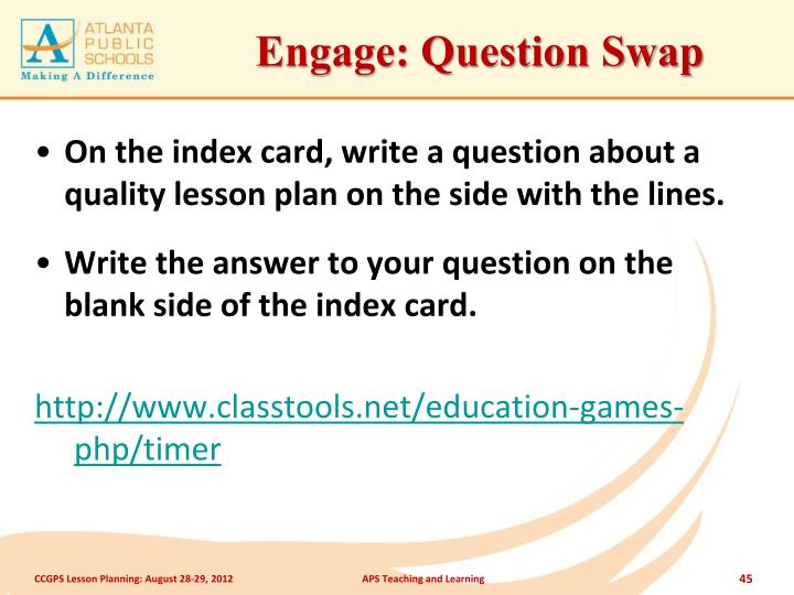 Engage: Question Swap