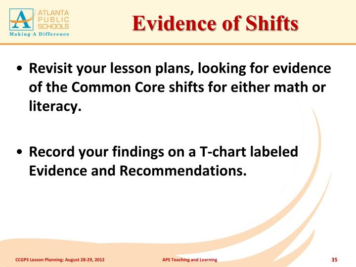 Evidence of Shifts