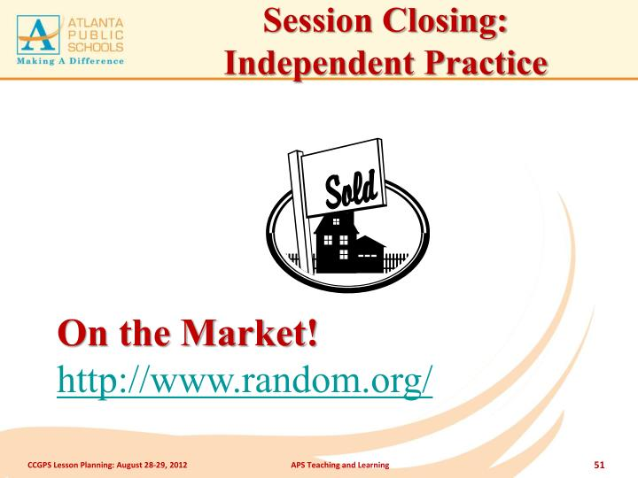 Session Closing: