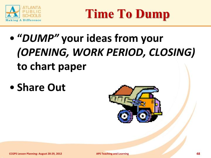 Time To Dump