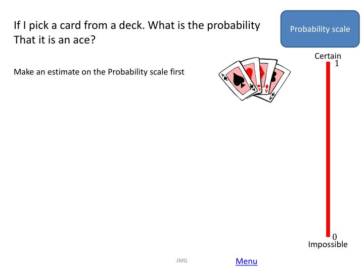 Probability scale