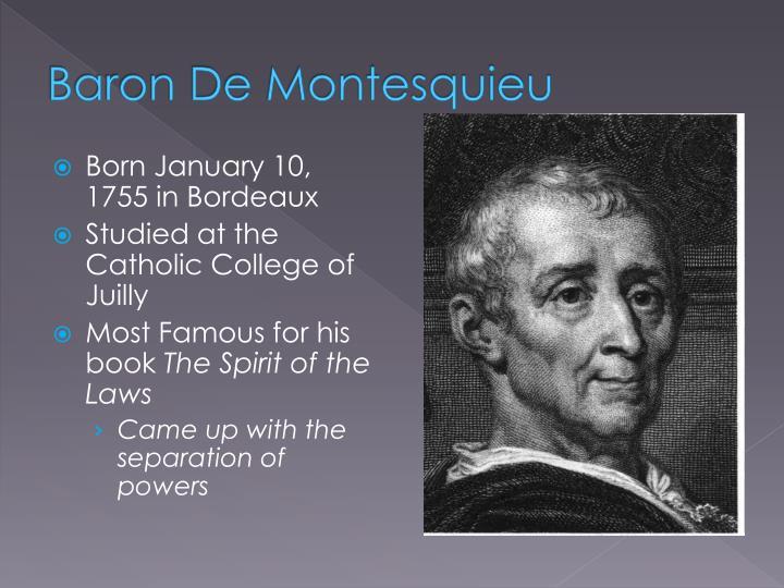 Baron De Montesquieu