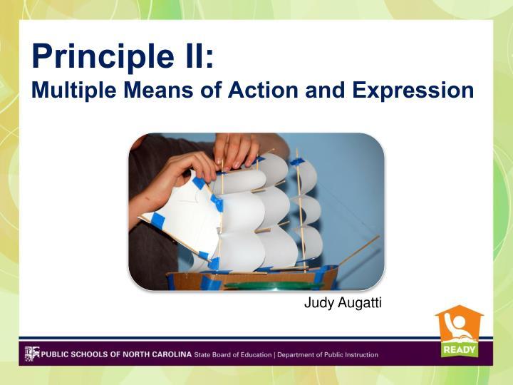 Principle II:
