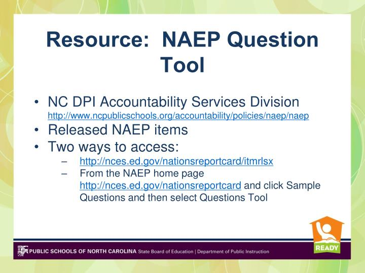 Resource:  NAEP Question Tool