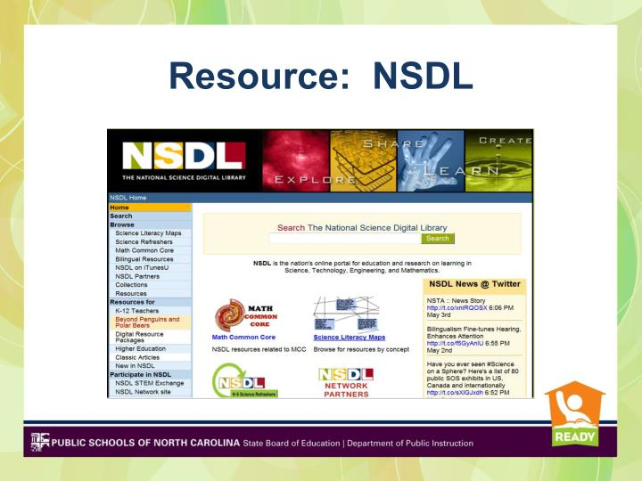 Resource:  NSDL
