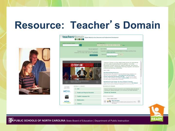 Resource:  Teacher