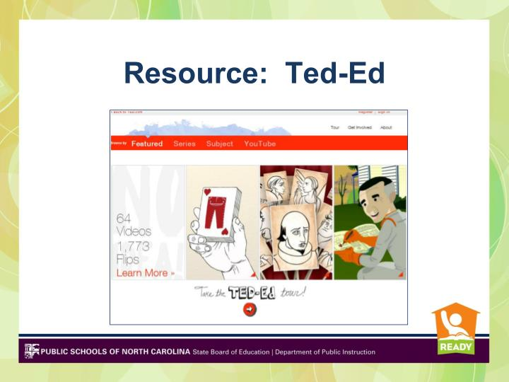 Resource:  Ted-Ed