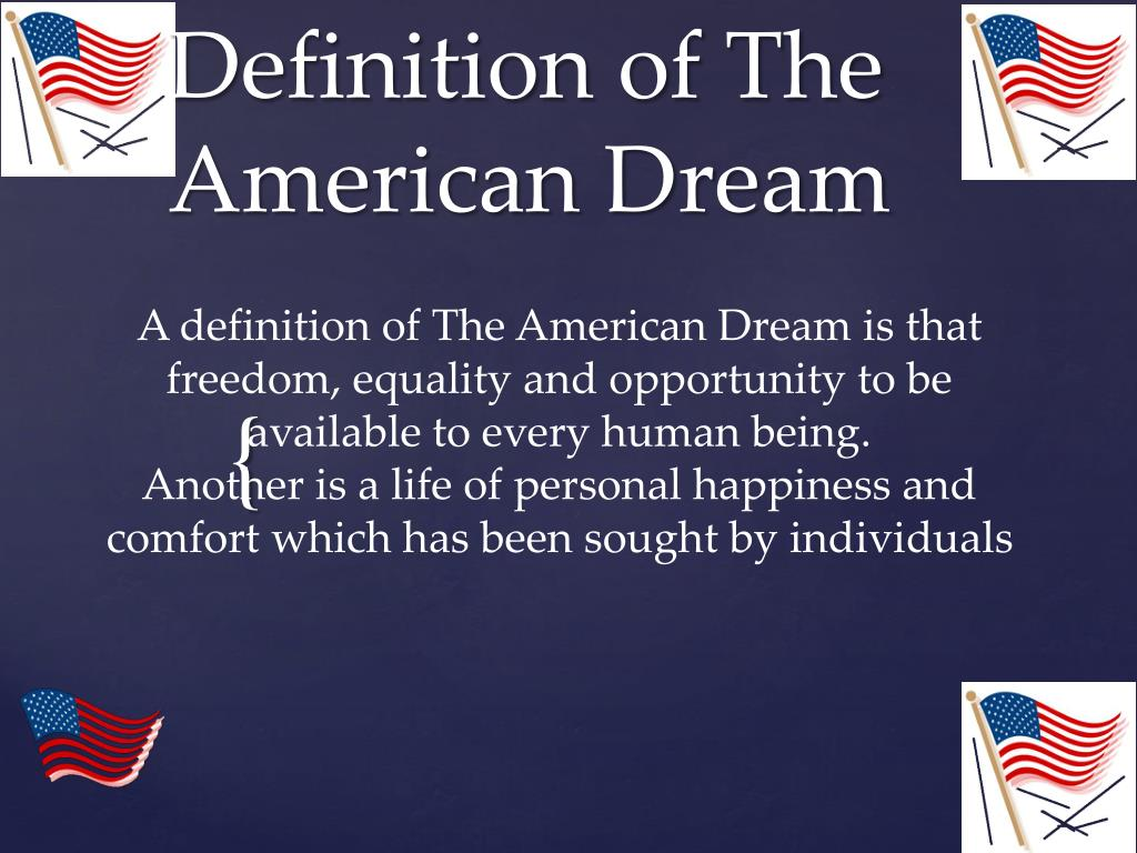 ppt - definition of the american dream powerpoint presentation - id