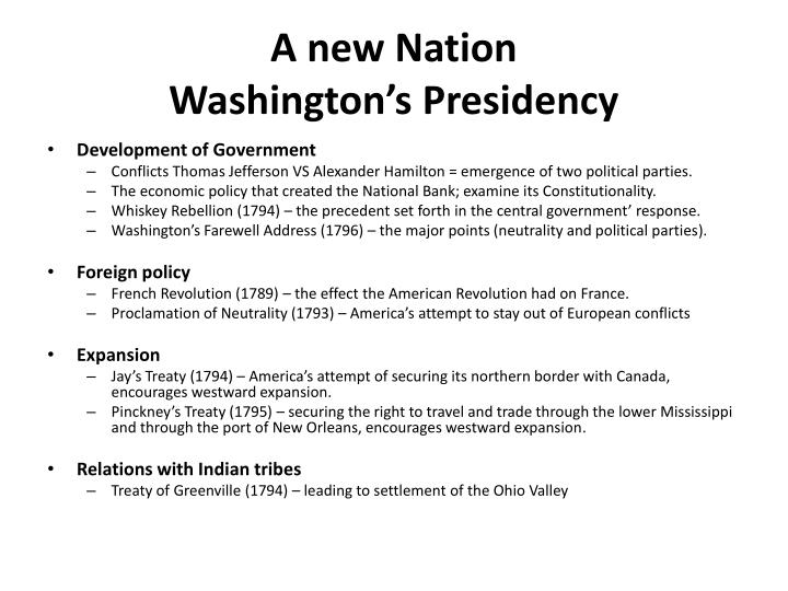 PPT - The Early Republic George Washington 1 st President PowerPoint ...