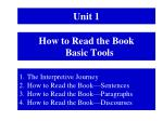 how to read the book basic tools