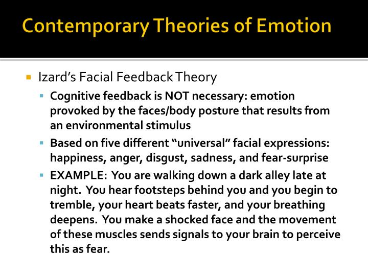 Contemporary Theories of Emotion