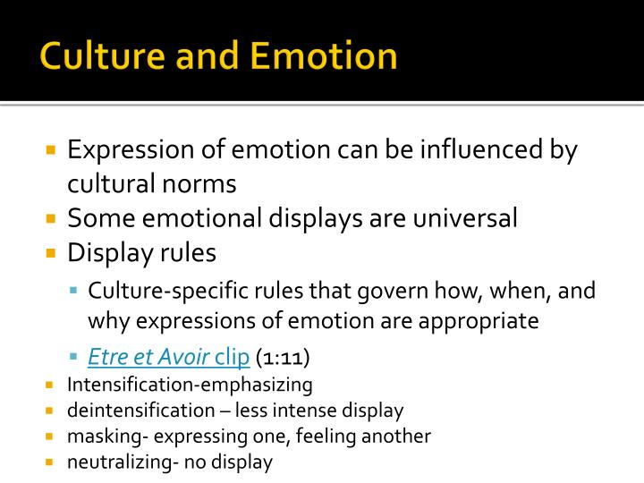 Culture and Emotion