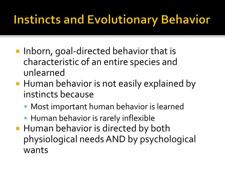 Instincts and Evolutionary Behavior