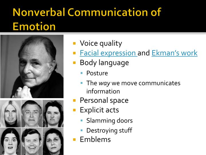 Nonverbal Communication of Emotion