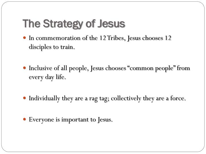 The strategy of jesus