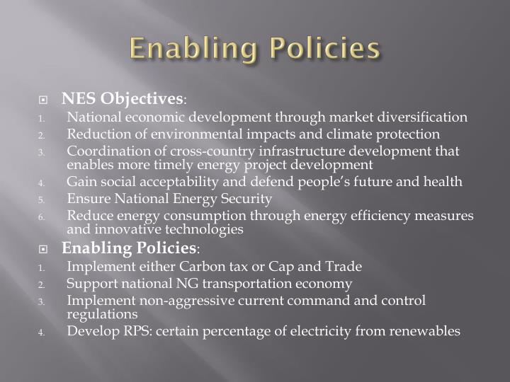 Enabling Policies